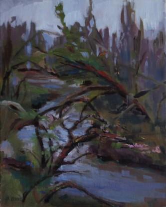 """Jefferson County, K.S. 8"""" x 10""""/ Oil on Canvas Board 2015 $225"""