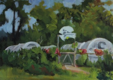 "Lawrence, K.S. 8"" x 10""/ Oil on Canvas Board 2017 $275"