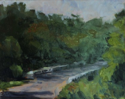 "Lawrence, K.S. 8"" x 10""/ Oil on Canvas Board 2017 $225"