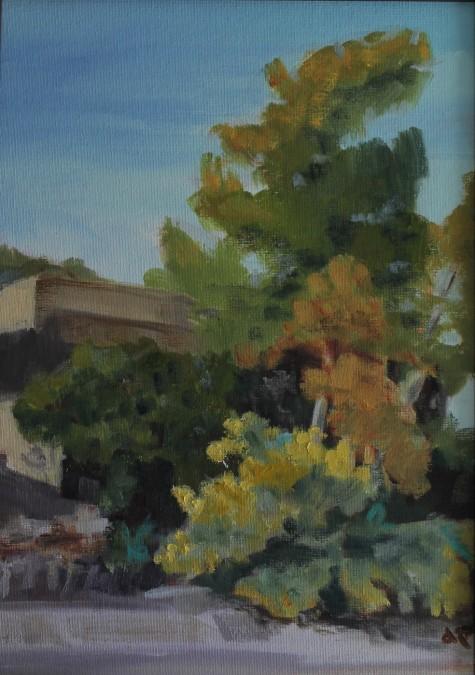 "Santa Fe, N.M. 10"" x 14""/ Oil on Canvas Board 2016 $325 *Already Framed"
