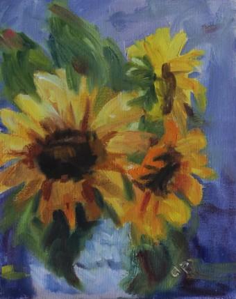 "Lawrence, K.S. 8"" x 16""/ Oil on Canvas Board 2016 $295"
