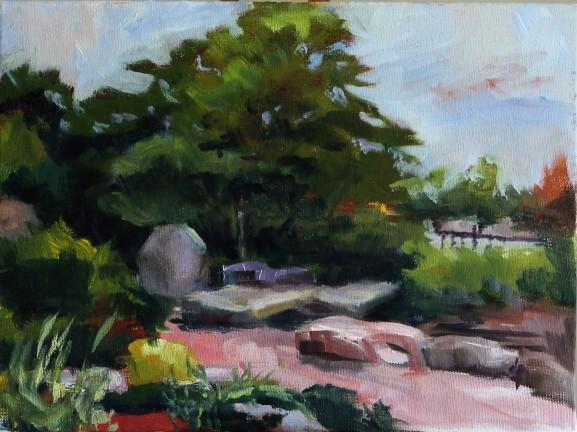 "Lawrence, K.S 9"" x 12""/ Oil on Canvas Board 2016 $250"