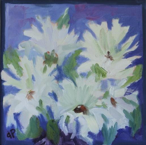 """8"""" x 8""""x 1 5/8""""/ Oil on Deep Canvas 2016 $225"""